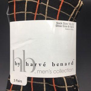 NWTS harvé benard Men's 5 Prs Pack Socks 🧦